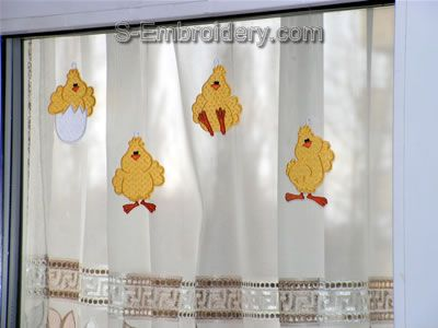 Freestanding Lace Easter Window Ornaments