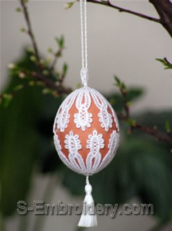 Freestanding Lace Easter Egg Cover #1