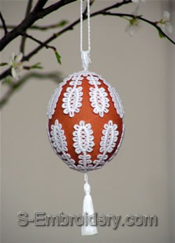 Freestanding Lace Easter Egg Cover #5