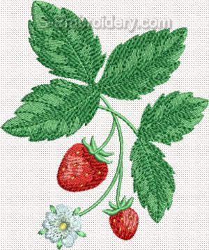 Strawberry Machine Embroidery Design#4