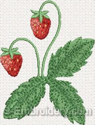 Strawberry Machine Embroidery Design#5