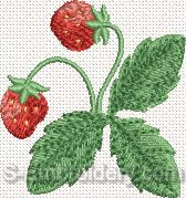 Strawberry Machine Embroidery Design#6