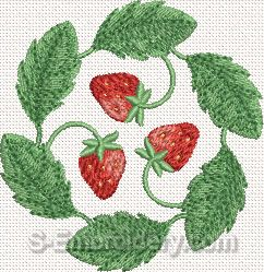 Strawberry Machine Embroidery Design#8