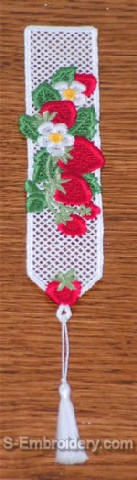 Freestanding Lace Strawberry Bookmark