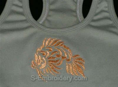 Fish machine embroidery decoration