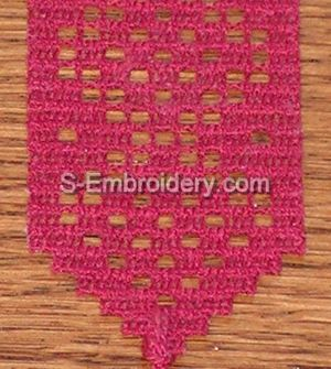 Freestanding Lace Crochet Bookmark #5