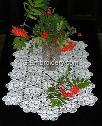 Freestanding Lace Crochet Table Runner