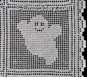 Halloween Freestanding Lace Crochet Ghost
