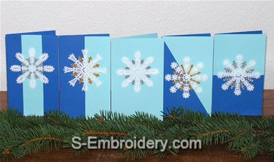 Freestanding Lace Snowflake Christmas Ornaments