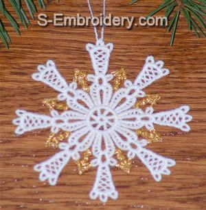 Freestanding lace Snowflake Crhristmas Tree ornament