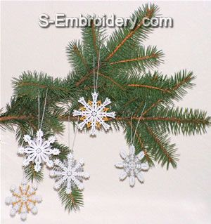 Freestanding lace Snowflake Crhristmas Tree ornaments