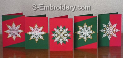 Freestanding Lace Star Christmas Ornaments