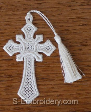Easter Freestanding Lace Cross Bookmark