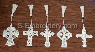 Easter Freestanding Lace Cross Bookmarks