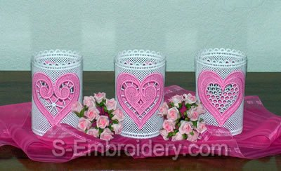 Freestanding Lace Valentine Light Shades