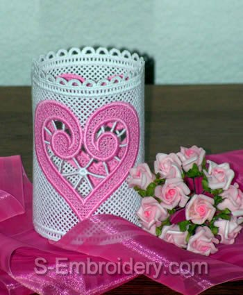 Freestanding Lace Valentine Light Shade #1