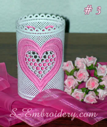 Free standing lace Valentine light shade #3