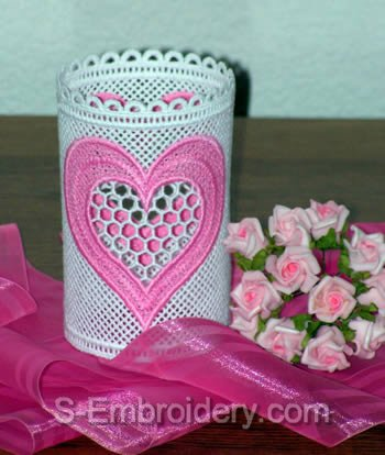 Freestanding Lace Valentine Light Shade #3