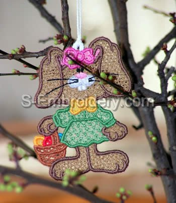 Easter Bunny Freestanding Lace Ornament