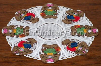 Easter Bunny Freestanding Lace Doily