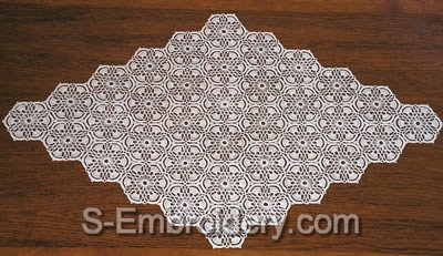 Freestanding lace crochet doily - mono color