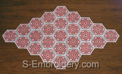 Freestanding lace crochet doily - 2 color