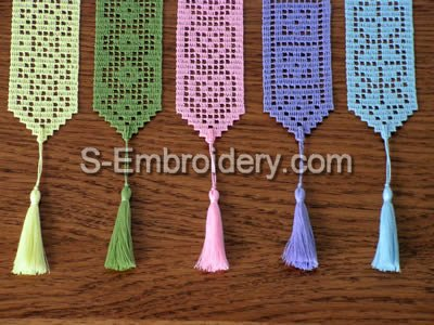 Freestanding Lace Crochet Bookmarks