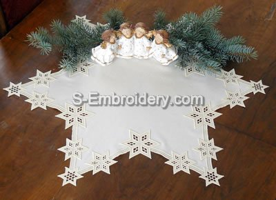 Freestanding Lace Star Doily