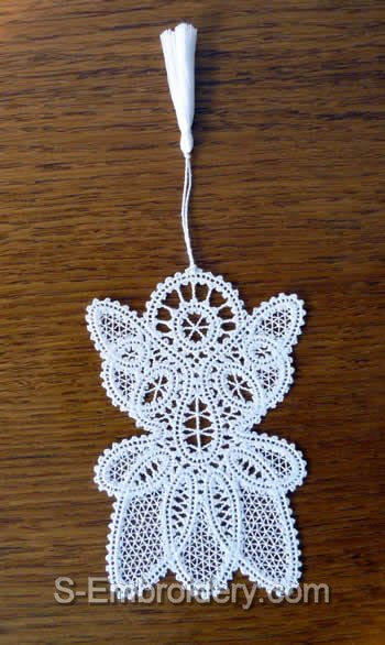 Angel Battenberg Lace Bookmark