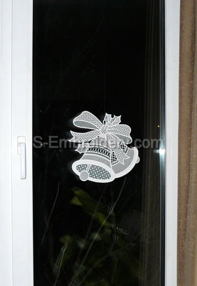 Christmas Bells Freestanding Lace Window Decoration