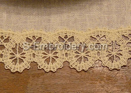 Battenberg lace border machine embroidery design