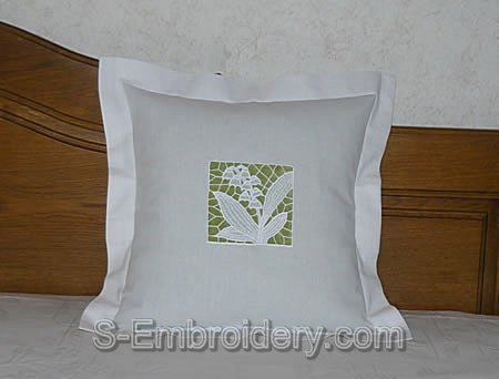 FSL lilly of the valley pillow case decoration