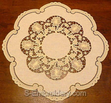 Pansy freestanding lace doily