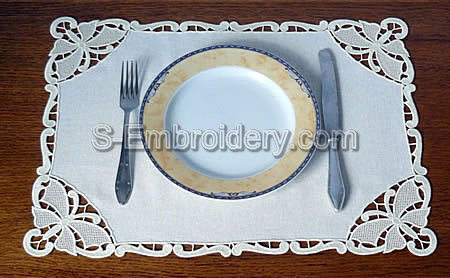 Butterfly Freestanding Lace Placemat