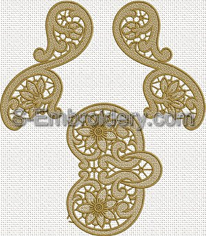 Floral freestanding lace doily machine embroidery designs