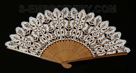 Battenberg lace fan image
