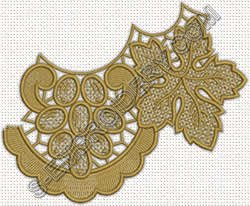 Freestanding lace grapes doily machine embroidery design