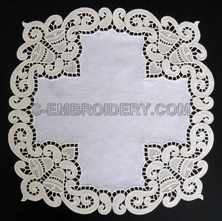 Christmas bells freestanding lace doily