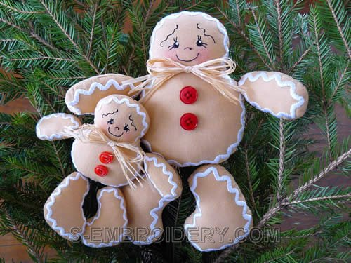Ginger Boy Soft Toy Embroidery Set