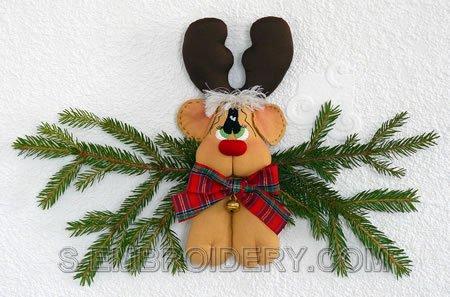 Rudolf the Reindeer Christmas soft toy decoration