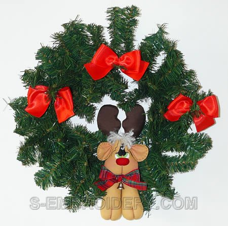 Rudolf the Reindeer Christmas wreath decoration