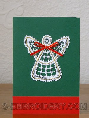 Christmas angel Battenberg lace ornament