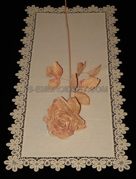 Battenberg lace table runner