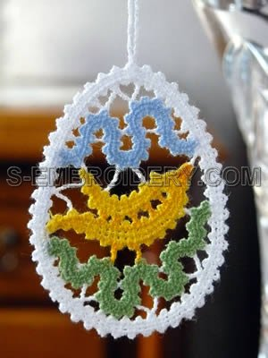 Easter tree freestanding lace ornament