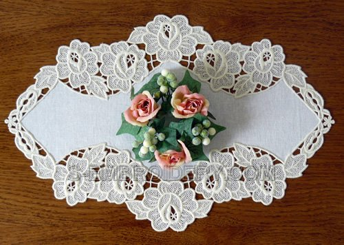 Rose freestanding lace doily embroidery designs set
