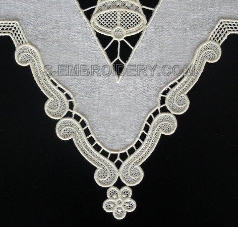 Freestanding lace border machine embroidery designs