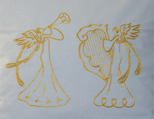 Angels machine embroidery designs