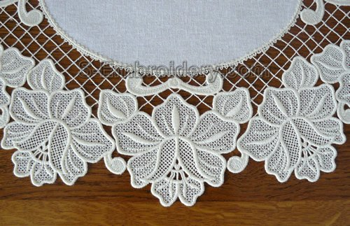 Floral freestanding lace machine embroidery design
