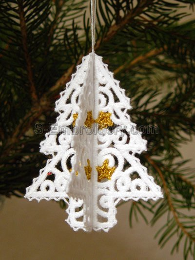 3D Christmas tree freestanding lace ornament