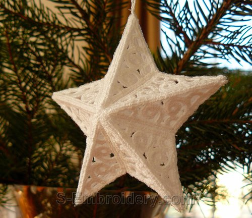 3D freestanding lace Christmas star ornament